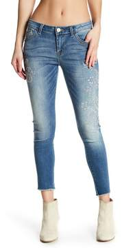 Democracy Embroidered Skinny Jeans