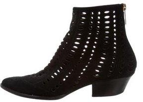 Tamara Mellon Laser Cut Ankle Boots