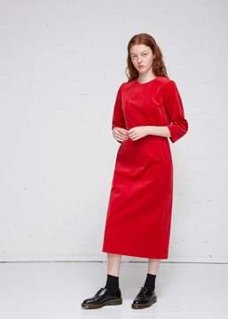 Comme des Garcons Cotton Velvet Dress