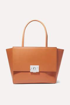 Calvin Klein Bonnie Large Grosgrain-trimmed Leather Tote - Tan