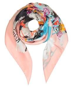 Kenzo Women's P Pink Silk Foulard.