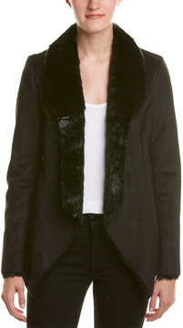 Central Park West Faux Suede Jacket