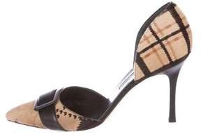 Manolo Blahnik Ponyhair Pointed-Toe Pumps