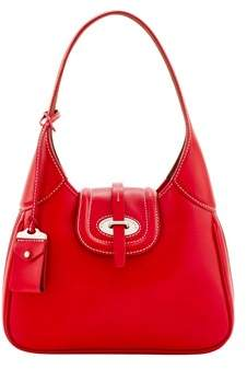 Dooney & Bourke Florentine Toscana Small Hobo Shoulder Bag. - RED - STYLE