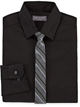 Van Heusen Flex Boys Shirt + Tie Set 8-20 Reg & Husky