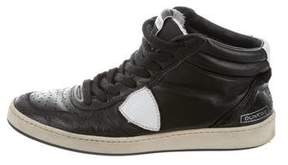 Philippe Model Leather High-Top Sneakers