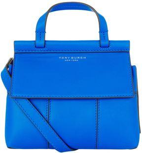 Tory Burch Block T Mini Satchel - BLUE - STYLE