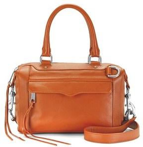 Rebecca Minkoff Leather Mab Mini Satchel. - BROWN - STYLE