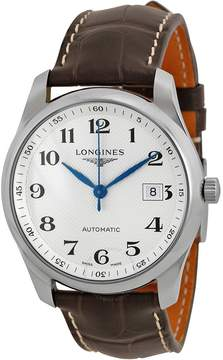 Longines Master Automatic Silver Dial Brown Leather Watch