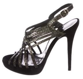 Barbara Bui Python Multistrap Sandals