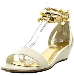 Thalia Sodi Lordes Open Toe Synthetic Wedge Sandal.
