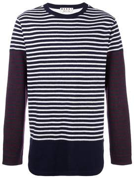 Marni patchwork stripe jumper