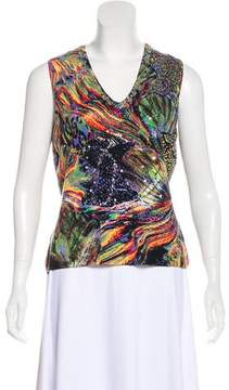 Alberto Makali Sleeveless Beaded Top