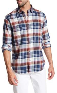 James Campbell Dover Plaid Long Sleeve Regular Fit Shirt
