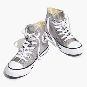 Madewell Converse® Unisex Chuck Taylor All Star High-Top Sneakers in Metallic