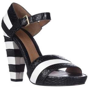 Marc Jacobs Marc 645922 Ankle Strap Heel Sandals, Ivory/black.