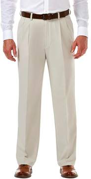 Haggar Men's Cool 18® PRO Classic-Fit Wrinkle-Free Pleated Expandable Waist Pants