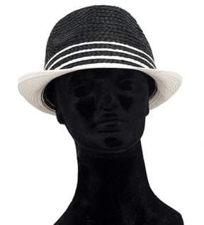La Fiorentina Colorblock Black And White Straw Hat.