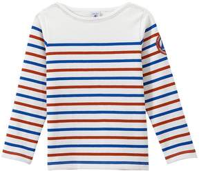 Petit Bateau Boy's heavyweight jersey sailor top in three colors