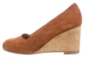 A.P.C. Suede Round-Toe Wedges
