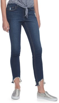 Almost Famous Juniors' Frayed Hem Skinny Jeans