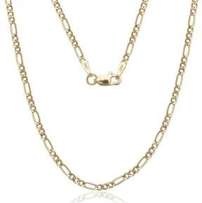 Alpha A A Solid 14kt Gold Figaro Chain, 16