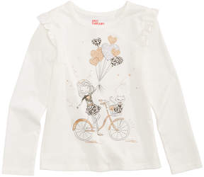 Epic Threads Bike Graphic-Print T-Shirt, Toddler Girls (2T-5T), Created for Macy's