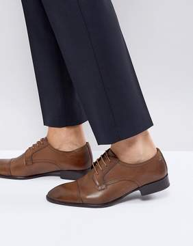 Base London Christie Leather Derby Shoes In Tan