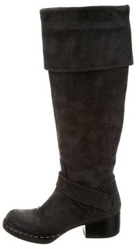 CNC Costume National Suede Riding Boots