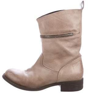 Cordani Leather Round-Toe Boots