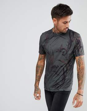New Look T-Shirt With Sublimation Print In Black