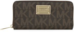 Michael Kors Jet Set Logo-Print Wallet - BROWN - STYLE