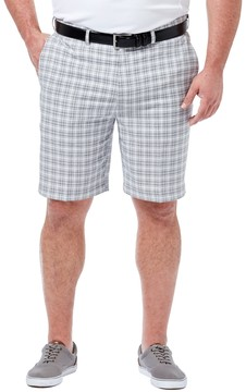 Haggar Big & Tall Cool 18 Windowpane Performance Shorts
