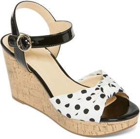 Liz Claiborne Kenzie Womens Wedge Sandals