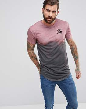 SikSilk Muscle T-Shirt In Pink Fade