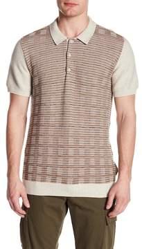 Ben Sherman Mixed Stripe Panel Knit Polo