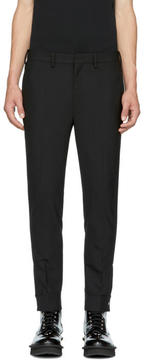 Neil Barrett Black Slim Zip Cuff Trousers
