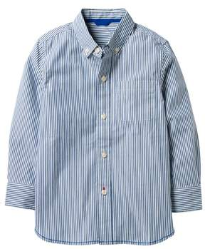 Boden Mini Laundered Stripe Woven Shirt