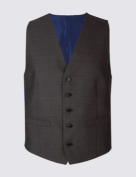 Marks and Spencer Grey Slim Fit Waistcoat