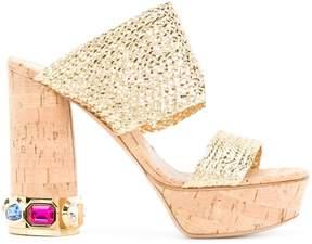 Casadei embellished platform sandals