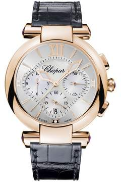 Chopard Imperiale Chronograph Mother of Pearl Dial Brown Leather Men's Watch