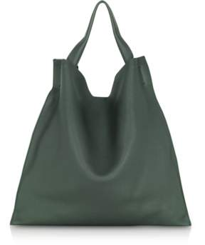 Jil Sander Dark Green Medium Knitted Leather Xiao Bag