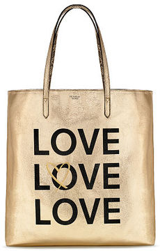 Victoria's Secret Victorias Secret Love Metallic Crackle Reversible Backstage Tote