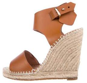 Joie Leather Espadrille Wedges