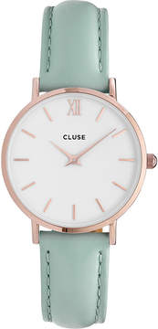 Cluse CL30017 Minuit stainless steel and leather watch