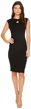 Christin Michaels Selena Sleeveless Fitted Dress with Neck Detail Women's Dress