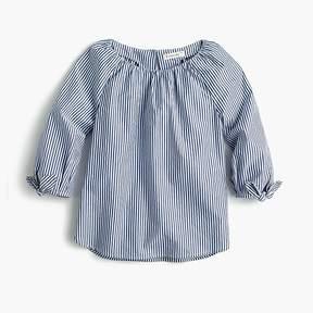J.Crew Girls' tie-sleeve top in stripe
