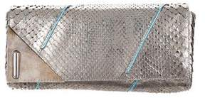 Marc by Marc Jacobs Metallic Python Clutch