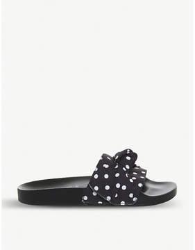 Office Summertime polka-dot bow-detail sliders