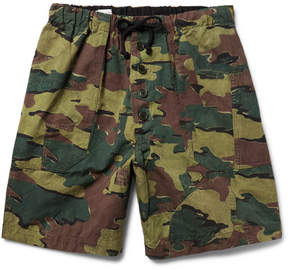 Dries Van Noten Camouflage-Print Cotton And Linen-Blend Shorts